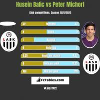 Husein Balic vs Peter Michorl h2h player stats