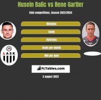 Husein Balic vs Rene Gartler h2h player stats