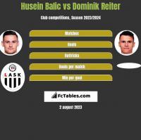 Husein Balic vs Dominik Reiter h2h player stats