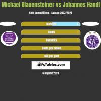 Michael Blauensteiner vs Johannes Handl h2h player stats