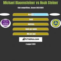 Michael Blauensteiner vs Noah Steiner h2h player stats