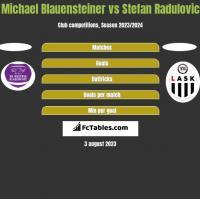 Michael Blauensteiner vs Stefan Radulovic h2h player stats