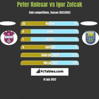 Peter Kolesar vs Igor Zofcak h2h player stats
