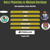 Harry Pickering vs Michael Harriman h2h player stats