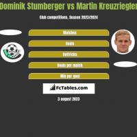 Dominik Stumberger vs Martin Kreuzriegler h2h player stats