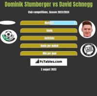 Dominik Stumberger vs David Schnegg h2h player stats