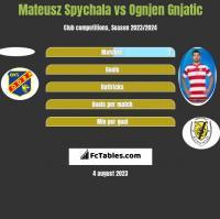 Mateusz Spychala vs Ognjen Gnjatic h2h player stats