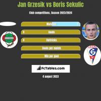 Jan Grzesik vs Boris Sekulic h2h player stats