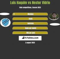 Luis Haquim vs Nestor Vidrio h2h player stats