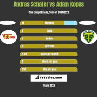 Andras Schafer vs Adam Kopas h2h player stats