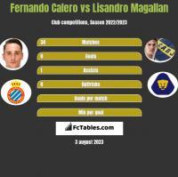 Fernando Calero vs Lisandro Magallan h2h player stats