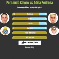 Fernando Calero vs Adria Pedrosa h2h player stats