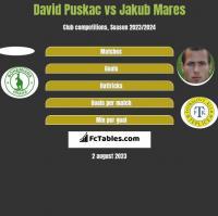 David Puskac vs Jakub Mares h2h player stats