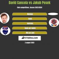 David Cancola vs Jakub Pesek h2h player stats