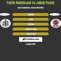 Patrik Hellebrand vs Jakub Pesek h2h player stats