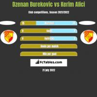 Dzenan Burekovic vs Kerim Alici h2h player stats
