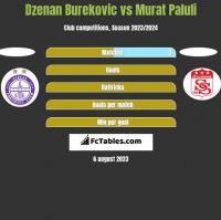 Dzenan Burekovic vs Murat Paluli h2h player stats