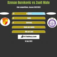 Dzenan Burekovic vs Zsolt Mate h2h player stats