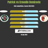 Patrick vs Ermedin Demirovic h2h player stats
