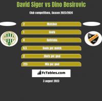 David Siger vs Dino Besirovic h2h player stats