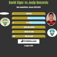 David Siger vs Josip Knezevic h2h player stats