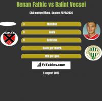 Kenan Fatkic vs Balint Vecsei h2h player stats