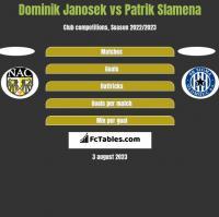Dominik Janosek vs Patrik Slamena h2h player stats