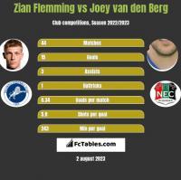 Zian Flemming vs Joey van den Berg h2h player stats