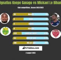 Ignatius Knepe Ganago vs Mickael Le Bihan h2h player stats