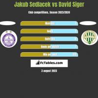 Jakub Sedlacek vs David Siger h2h player stats