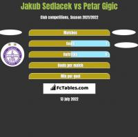 Jakub Sedlacek vs Petar Gigic h2h player stats