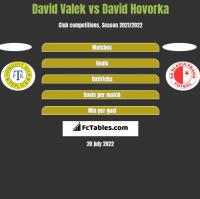 David Valek vs David Hovorka h2h player stats