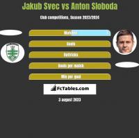 Jakub Svec vs Anton Sloboda h2h player stats