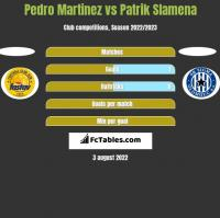 Pedro Martinez vs Patrik Slamena h2h player stats