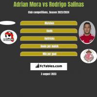 Adrian Mora vs Rodrigo Salinas h2h player stats