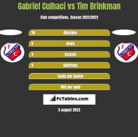 Gabriel Culhaci vs Tim Brinkman h2h player stats