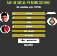 Gabriel Culhaci vs Melle Springer h2h player stats