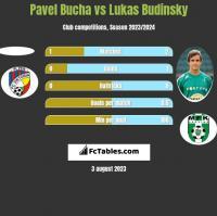 Pavel Bucha vs Lukas Budinsky h2h player stats