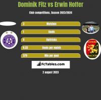 Dominik Fitz vs Erwin Hoffer h2h player stats