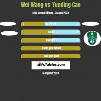 Wei Wang vs Yunding Cao h2h player stats