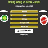 Ziming Wang vs Pedro Junior h2h player stats