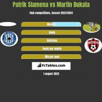 Patrik Slamena vs Martin Bukata h2h player stats
