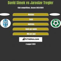 David Simek vs Jaroslav Tregler h2h player stats