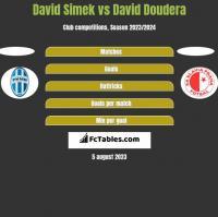 David Simek vs David Doudera h2h player stats