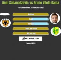 Anel Sabanadzovic vs Bruno Vilela Gama h2h player stats