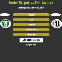Daniel Stropek vs Petr Javorek h2h player stats