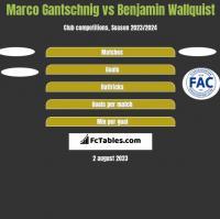 Marco Gantschnig vs Benjamin Wallquist h2h player stats