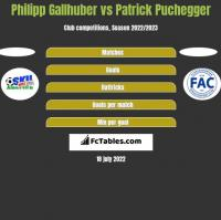 Philipp Gallhuber vs Patrick Puchegger h2h player stats