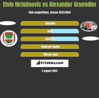 Elvin Ibrisimovic vs Alexander Gruendler h2h player stats