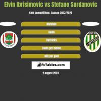 Elvin Ibrisimovic vs Stefano Surdanovic h2h player stats